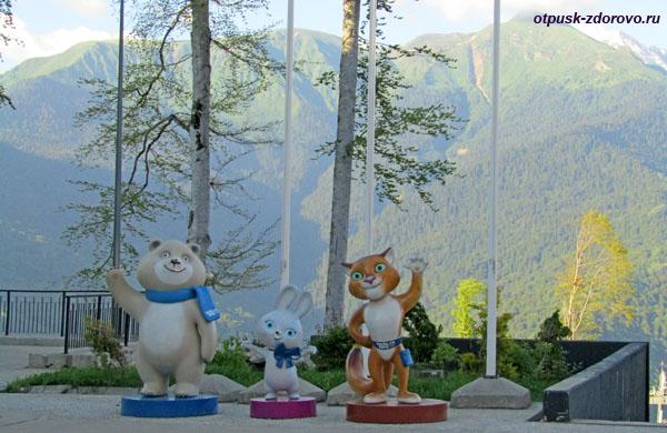 Символы Олимпийских игр на Роза Плато