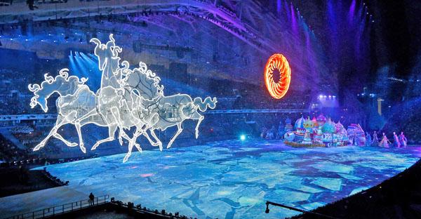 Тройка лошадей, Церемония открытия Олимпийских Игр в Сочи-2014