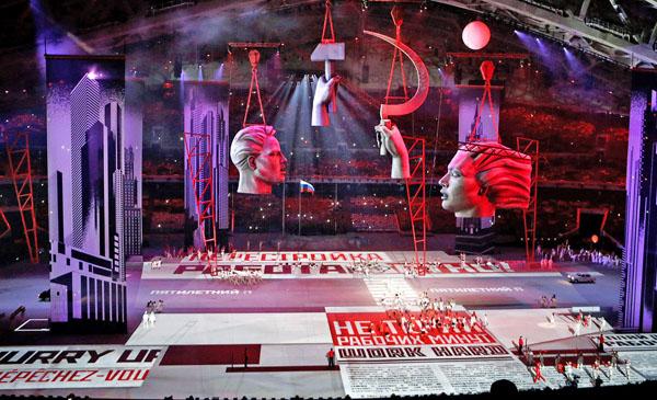 Рабочий и Колхозница, Церемония открытия Олимпиады в Сочи-2014