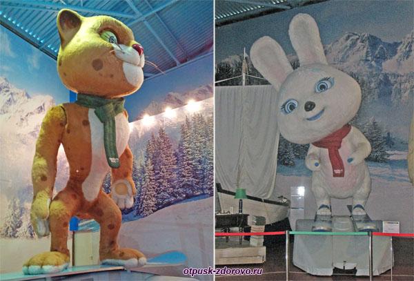 Настоящие Символы Олимпиады в Сочи 2014: Леопард и Зайка