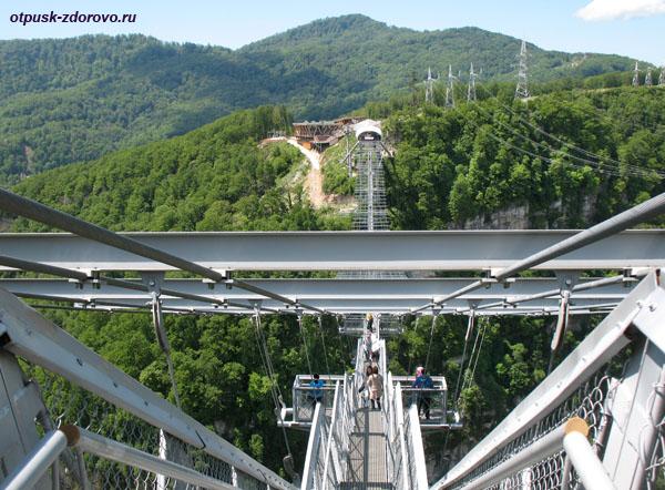 Вид на мост Скай Бридж с противоположной стороны, Сочи