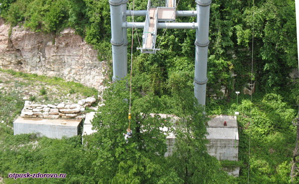 Прыжок Банджи-69, Скай Парк, Сочи