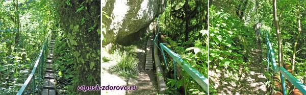 Тропинка и Ступеньки к водопаду Пасть Дракона (Глубокий Яр)