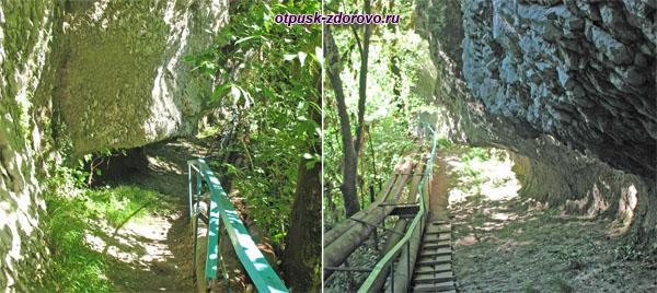 Тропа и ступени к водопаду Пасть Дракона (Глубокий Яр)