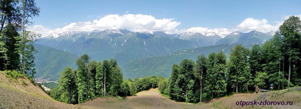 Кавказский горный хребет, Красная Поляна