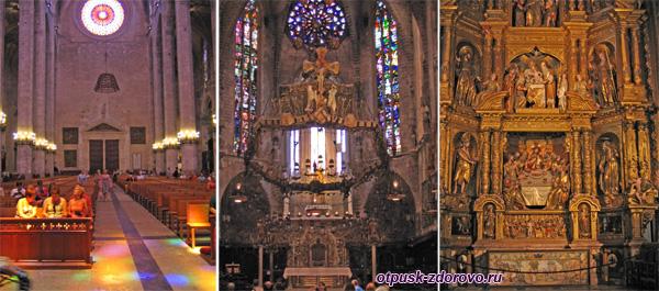 Внутри Кафедрального собора, Пальма-де-Майорка, достопримечательности