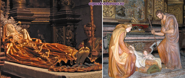 Скульптуры внутри Кафедрального собора, Пальма-де-Майорка, достопримечательности