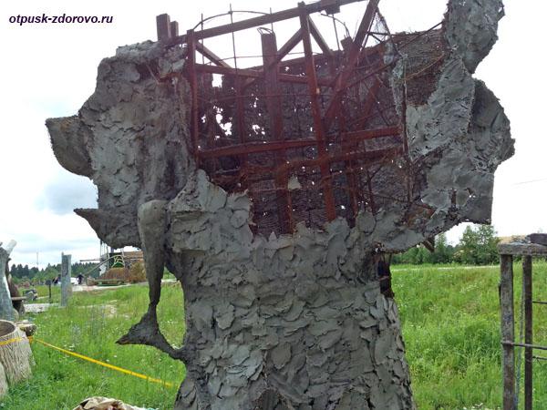 Создание скульптур из арт-бетона, Парк-заповедник сказок Берендеево Царство, Серпуховский район