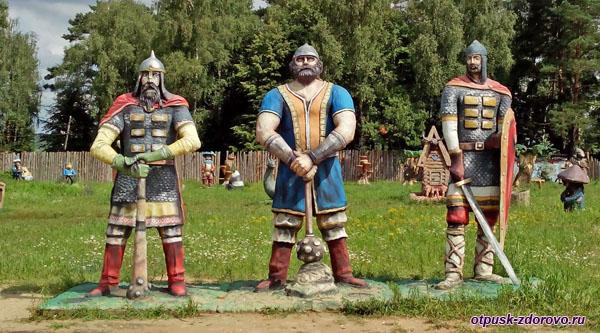 3 Богатыря, Парк-заповедник сказок Берендеево Царство, Серпуховский район