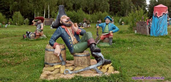 Пират курит трубку, Парк-заповедник сказок Берендеево Царство, Серпуховский район