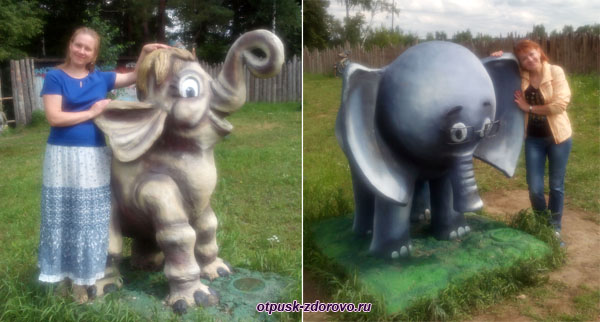 Слоненок и мамонтенок, Парк-заповедник сказок Берендеево Царство, Серпуховский район