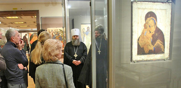 Донская икона Божьей Матери в Третьяковской галерее