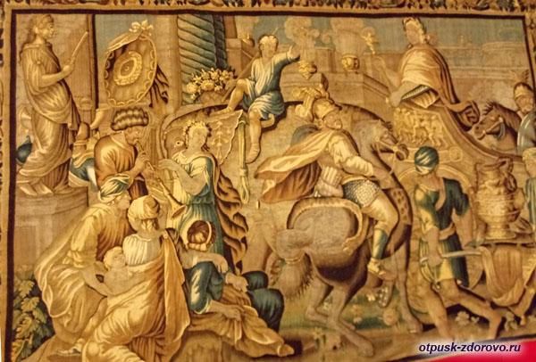 Ковер в хоромах царя Алексея Михайловича в Коломенском