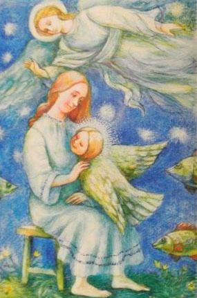 Святая Матрона Московская в образе птицы