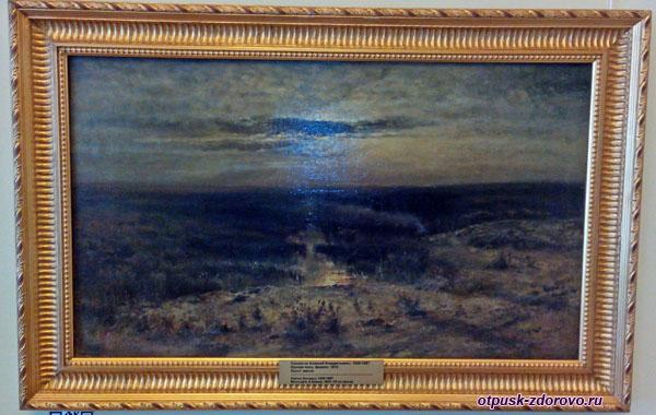 Пейзаж Саврасова Лунная ночь-Болото, Историко-художественный музей, Серпухов
