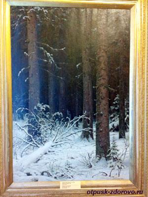 Пейзаж Шишкина Еловый лес зимой, Историко-художественный музей, Серпухов