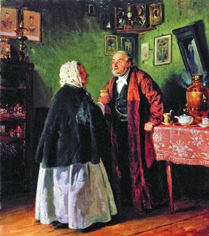 Картина Маковского Поздравление с Ангелом, Историко-художественный музей, Серпухов