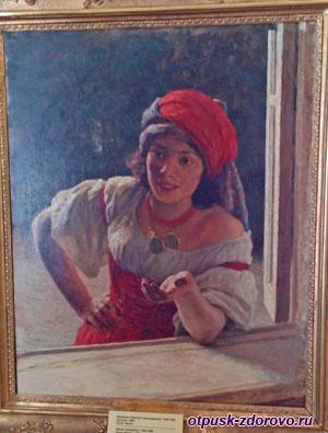 Портрет Николая Ярошенко Цыганка, Историко-художественный музей, Серпухов