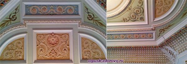 Дом Мараевых, орнаменты на потолке и стенах, Историко-художественный музей, Серпухов
