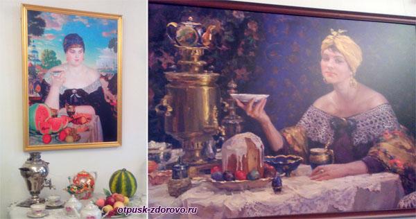 Картины чаепития, Выставка самоваров, Историко-художественный музей, Серпухов