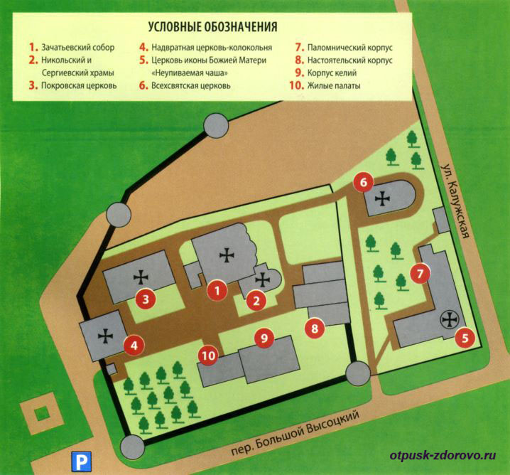 План территории. Высоцкий мужской монастырь, Серпухов