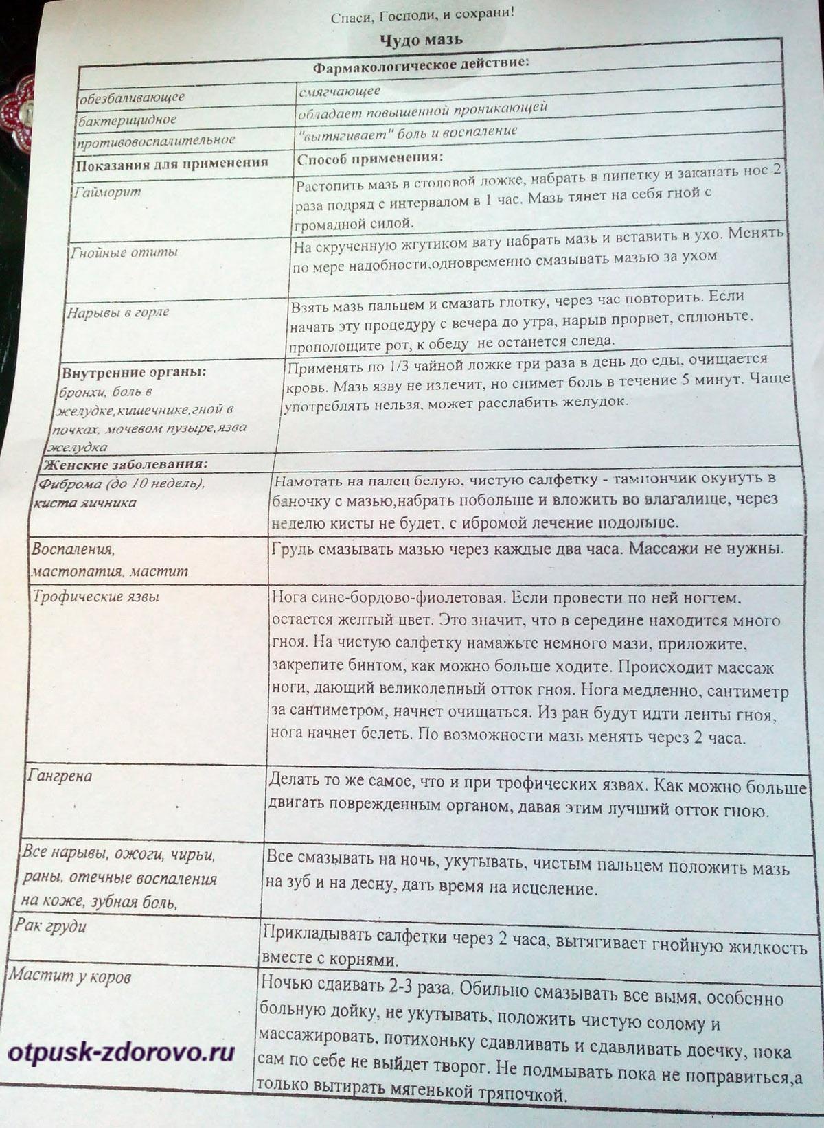 Список болезней, от которых исцеляет чудо-мазь. Введенский Владычный женский монастырь, Серпухов