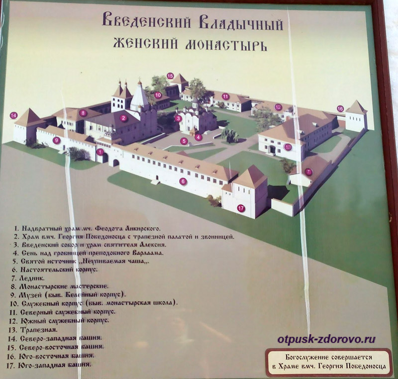 План территории. Введенский Владычный женский монастырь, Серпухов