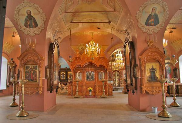 Покровский собор, икона Неупиваемая Чаша и изображения св. Афанасия Старшего и Младшего, Высоцкий монастырь, Серпухов