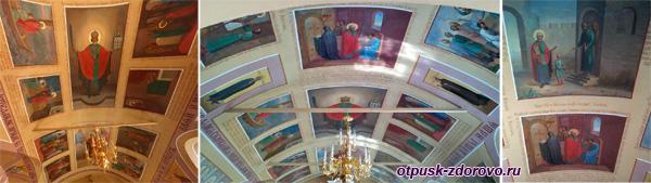 Росписи на потолке Никольского храма, Высоцкий монастырь, Серпухов