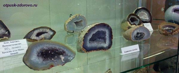 Агатовые жеоды, Выставка камней, Историко-художественный музей, Серпухов