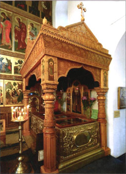 Муром, Свято-Троицкий монастырь, рака с мощами Петра и Февронии