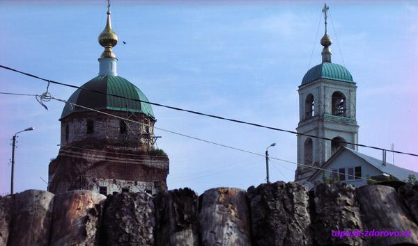 Село Карачарово возле Мурома - родина Ильи Муромца, храм
