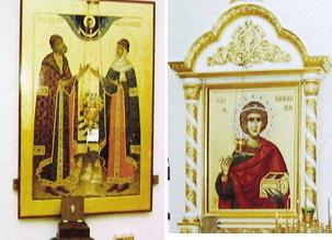 Покровский собор, Муром, Икона Петра и Февронии Муромских Чудотворцев и великомученика и целителя Пантелеимона