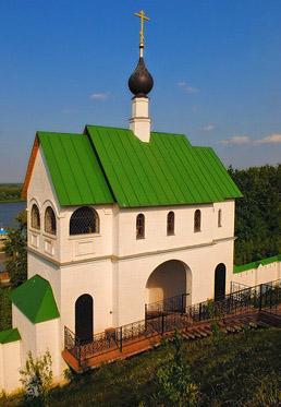 Спасо-Преображенский монастырь в Муроме, Надвратная церковь Сергия Радонежского, колокольня