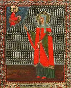 Икона святой праведной Иулиании Лазаревской (Муромской)