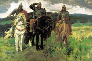 Художник Васнецов, картина 3 богатыря