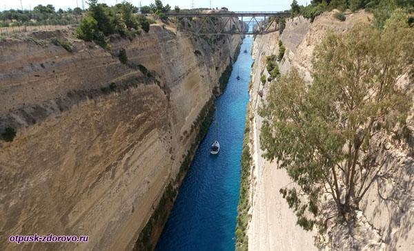 Коринфский канал - самый узкий канал в Греции