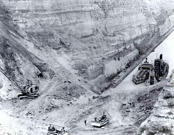 Восстановление Коринфского канала в 20 веке