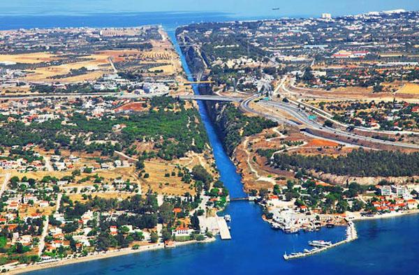 Канал через Коринфский перешеек, Греция