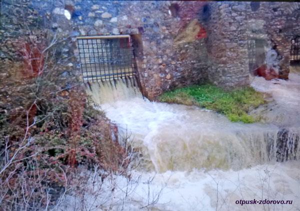 Укрепления для слива дождевых вод