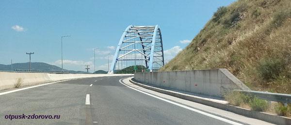 Мост на платной магистрали Афины-Каламата, Пелопоннес