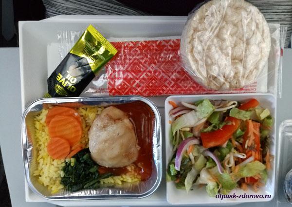 Низкокалорийное питание на борту Аэрофлота, что входит