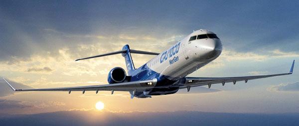 Самолет в небе на фоне заката. Боюсь летать на самолете! Что делать