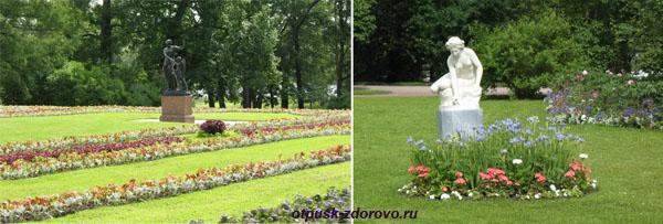 Екатерининский парк в Царском Селе (город Пушкин), скульптуры