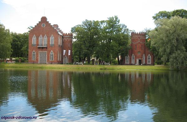 Екатерининский парк в Царском Селе (город Пушкин), озеро