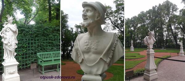 Скульптуры Летнего сада в Санкт-Петербурге