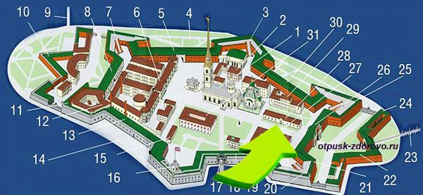 Петропавловская крепость, Музей восковых фигур на карте