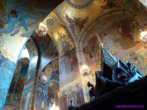 Собор Спаса-на-Крови в Санкт-Петербурге, Сень над местом смертельного ранения Александра II
