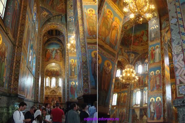 Собор Спаса-на-Крови в Санкт-Петербурге, мозаика внутри