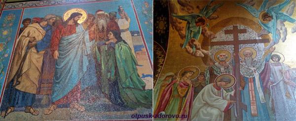 Собор Спаса-на-Крови в Санкт-Петербурге, иконы из мозаики